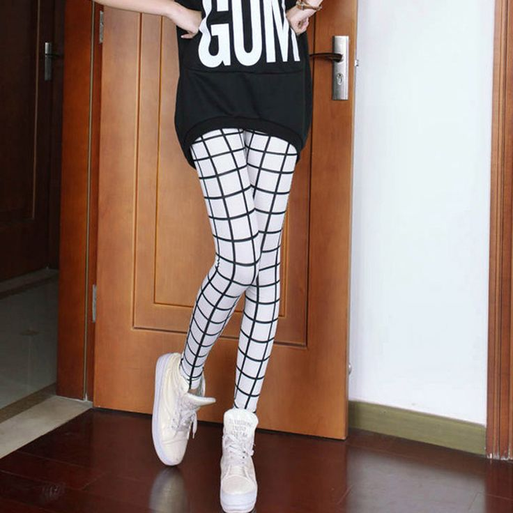 Find More Leggings Information about Hot selling High Elastic Design Vintage Plaid Leggings women Black White Plaid leggings pants,High Quality leggings tight pants,China pants floral Suppliers, Cheap legging pants from Isabeli's Wardrobe on Aliexpress.com