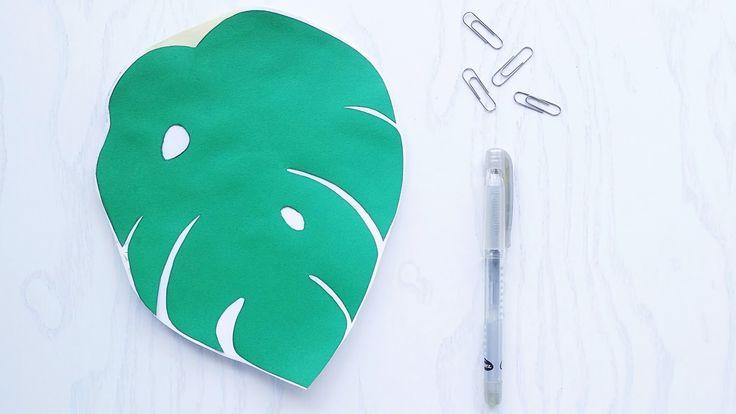 DIY Monstera Notebook