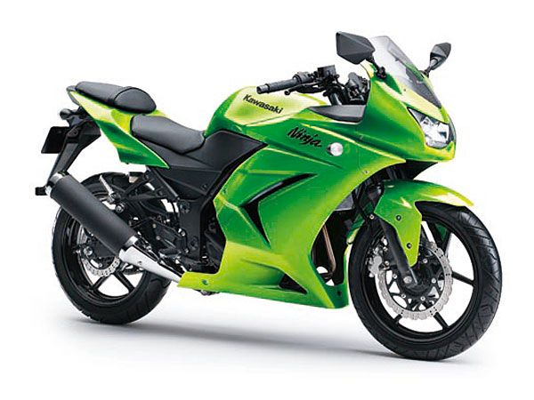 Kawasaki Ninja 250  Price: $3999    In terms of thrills per dollar, the Kawasaki Ninja 250R is one of the best bargains of them all. This little guy is really fun to ride. The tiny 250cc parallel twin spins to a ludicrous 10,000 rpm and sounds sweet doing it.    Read more: The 10 Best Buys in 2012 Motorcycles - Popular Mechanics