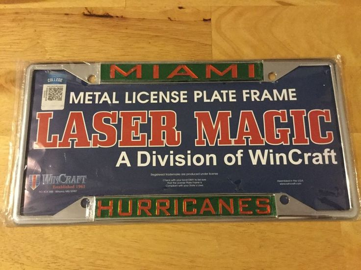 NCAA Miami Hurricanes Chrome Metal Laser Cut License Plate Frame by WinCraft NEW #WinCraft #MiamiHurricanes