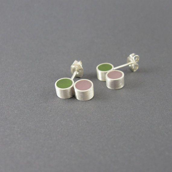 resin silver earrings by MissSilver, €25.00