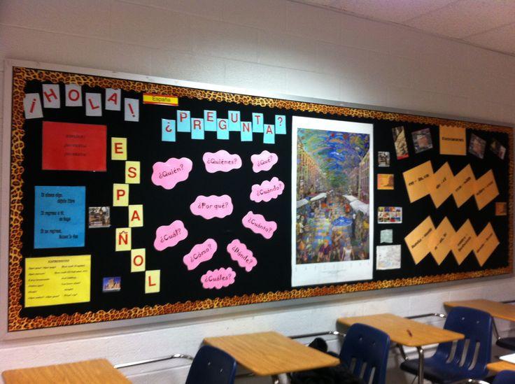 Spanish Teacher Classroom Decorations ~ Best spanish bulletin boards ideas on pinterest