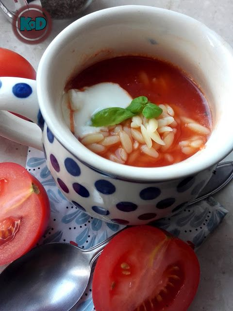 tomato soup with burned pepper
