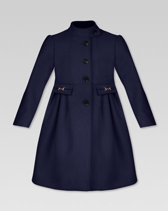 Gucci kids collection Wool Single-Breasted Coat - (Neiman Marcus)    Love the pocket detailing
