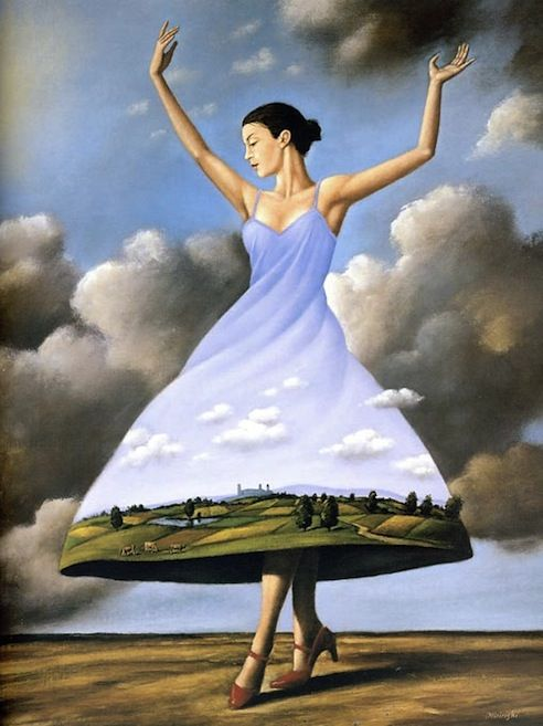 Surrealism Rafal Olbinski's adventure world