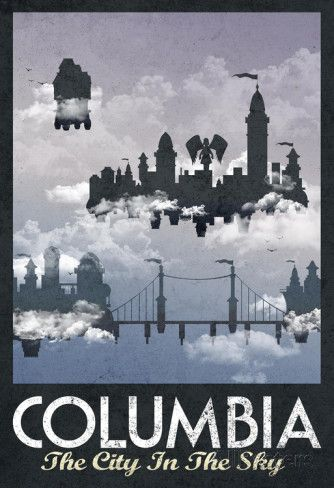 Retro Travel Posters - Columbia #BioshockInfinite via Reddit user doginyellowcoat