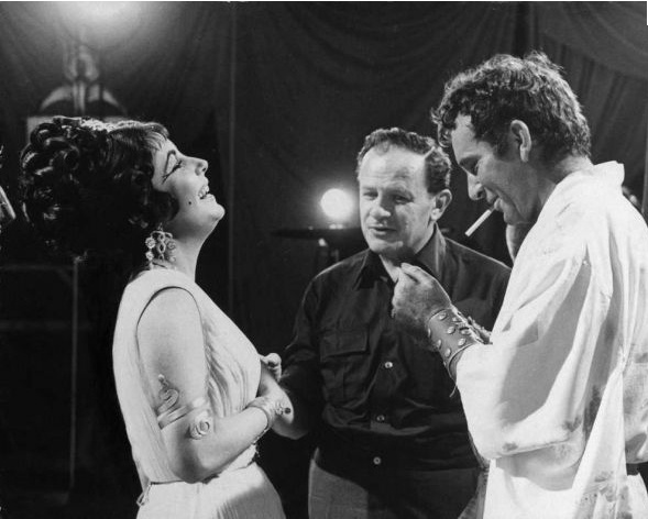 "On the set of ""Cleopatra"" (1963)"