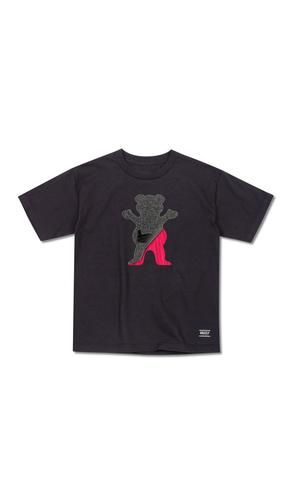 Grizzly Youth Tee Cutout Bear Black