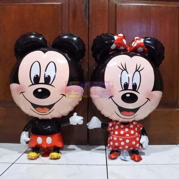 Jual Beli Balon Foil Mickey Minnie Mouse atau aksesoris dekorasi pesta Karakter kartun Disney besar jumbo by ghofuraa shop Baru | Aneka Mainan Anak Terlengkap |  Bukalapak