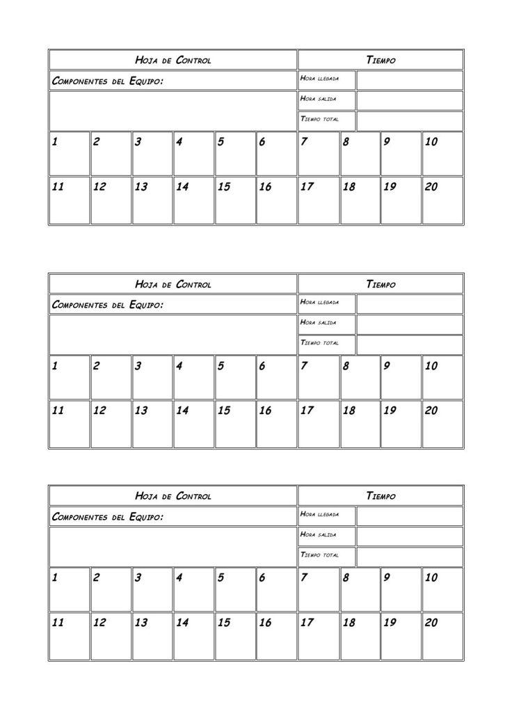 Ficha de Orientación  Hoja de control para el de orientación. Educación Física Primaria