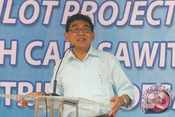 """Wakil Menteri Energi dan Sumber Daya Mineral (ESDM), Susilo Siswoutomo, Selasa, meresmikan proyek percontohan pemanfaatan limbah cair sawit untuk pembangkit listrik perdesaan berkapasitas 1 Mega Watt (MW) di Tambusai Utara, Rokan Hulu, Riau. """"Pembangkit biogas ini untuk mengalirkan listrik bagi 1.050 keluarga warga Desa Rantau Sakti, Rokan Hulu, yang hingga kini belum mendapat aliran listrik,"""" kata Susilo dalam"""