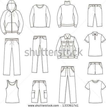 stock-vector-vector-illustration-of-women-s-casual-clothes