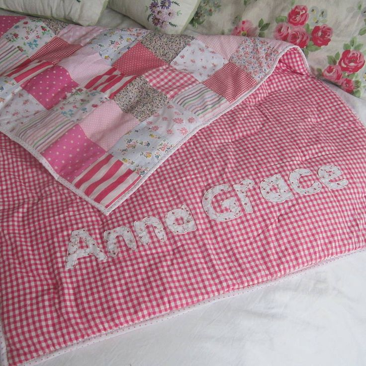 patchwork quilt personalised girls and boys by the fairground | notonthehighstreet.com