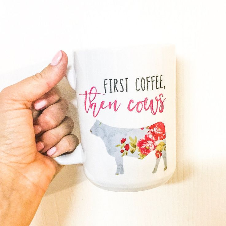 First Coffee then cows, coffee and cows, coffee first, cow mug, cow cup, first coffee mug, Heifer, Angus, Beef mug, Floral Mug, floral cow by RandRHill on Etsy