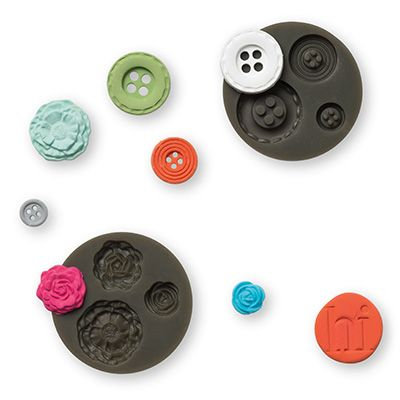 Make your own embellishments using the Stampin' Up! Simply Pressed Clay and Molds. Easy to use!!
