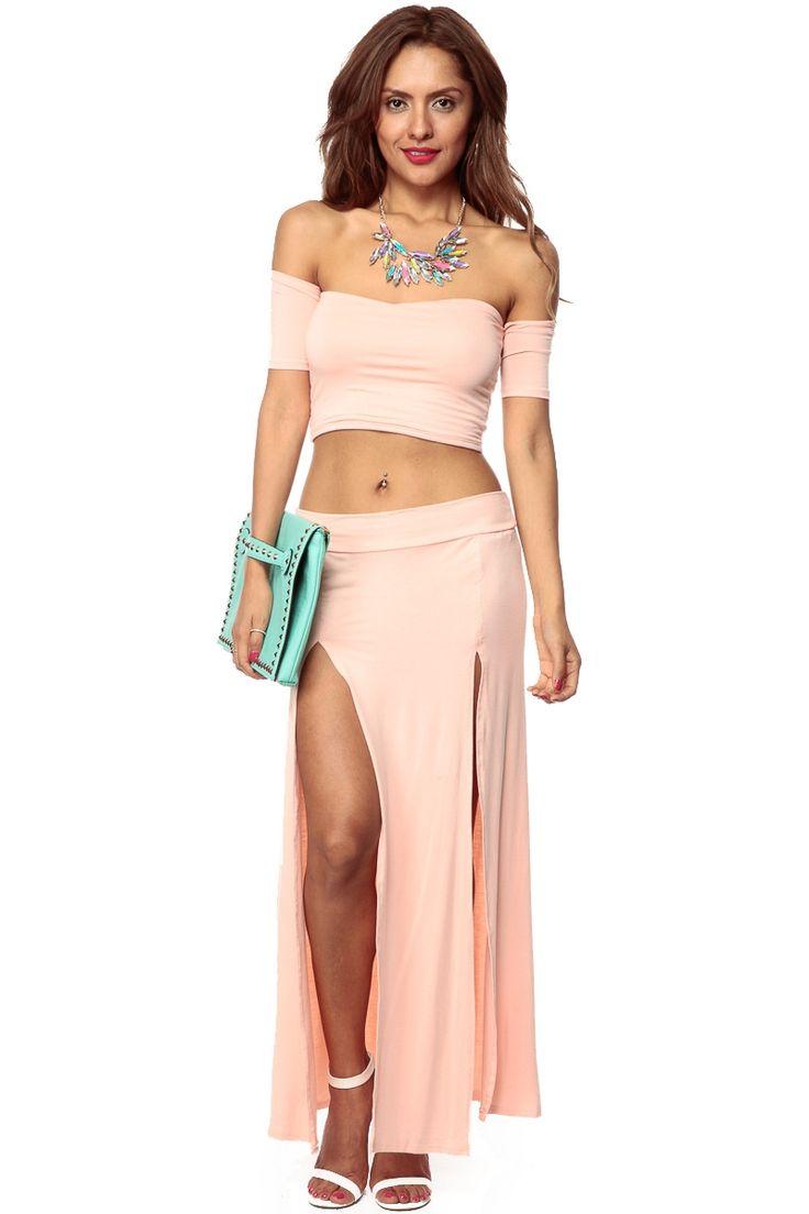 47 best Double slit images on Pinterest | Slit skirt, Maxi skirts ...