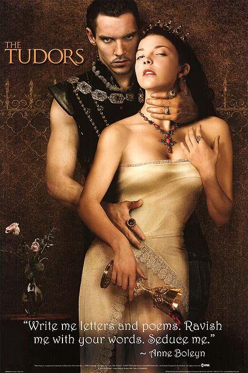 Jonathan Rhys Meyers as King Henry VIII and Natalie Dormer as Anne Boleyn in The Tudors.
