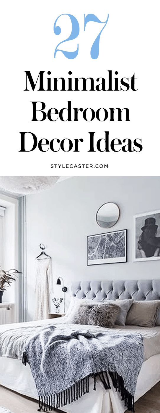 27 Minimalist Bedroom Decor Ideas—Major interior decorating inspiration ahead! @stylecaster