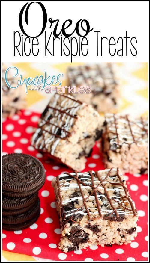 Hi! Its Meghan from Cupcakes with Sprinkles! Today's treat combines 2 of my all time favorite things, Oreos, and Rice Krispie Treats. I cant believe I didn't think of this before, they're so easy and they go together perfectly! My kids love them and who am I kidding, they are delicious. Use mint Oreos and [...]