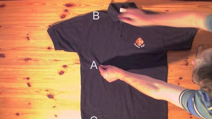 Come piegare una maglietta in 2 secondi