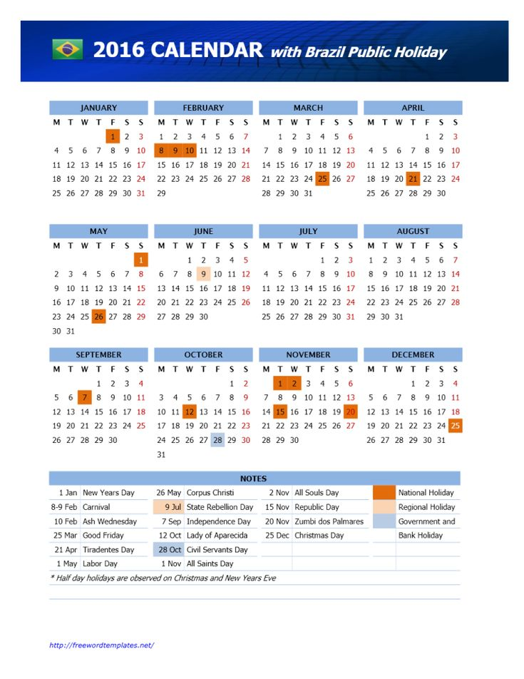 39 best templates images on pinterest templates flyers and 2016 brazil public holidays calendar sciox Images
