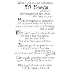 Ideas For 50th Party On Pinterest 21 Pins 50th Anniversary Speech Anniversary Poems 50th Anniversary Cards