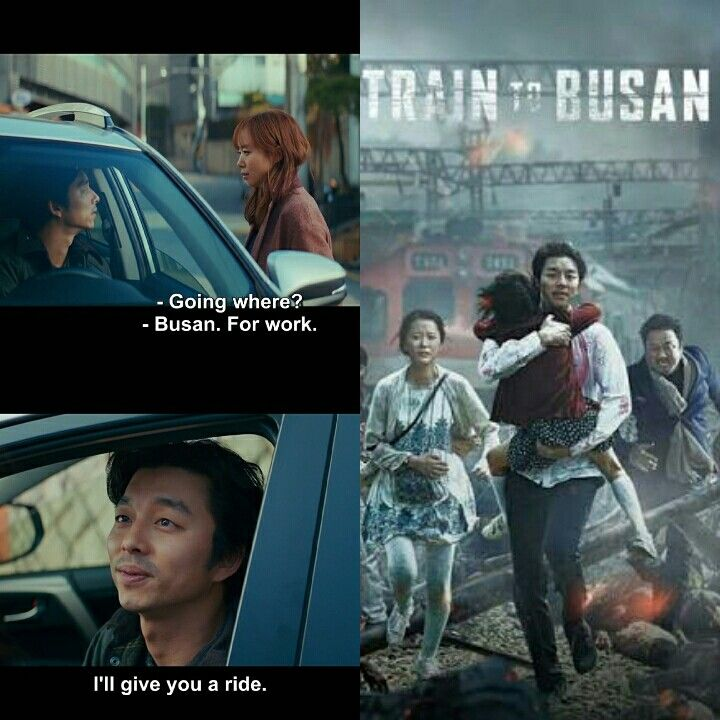 And finally Ki hong ahjussi going to Busan by a train 😁.  And divorced... But to many zombie chasing him 😬