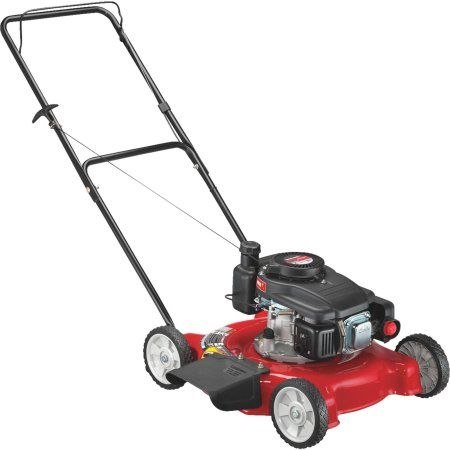 Yard Machines 20 inch Gas Push Lawn Mower with Side Discharge, Red