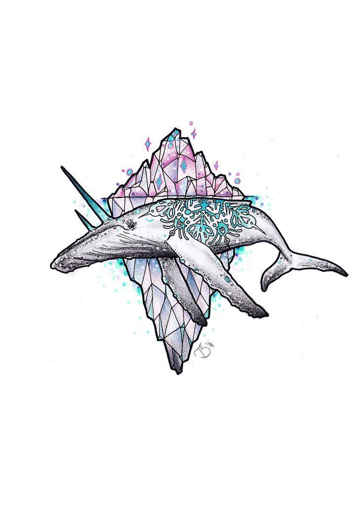 Tóth Bogi -whale unicorn- FINE HEART CUSTOM INK https://www.facebook.com/FineHeartCustomInk