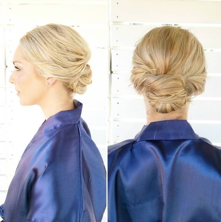 low+blonde+updo+for+short+hair