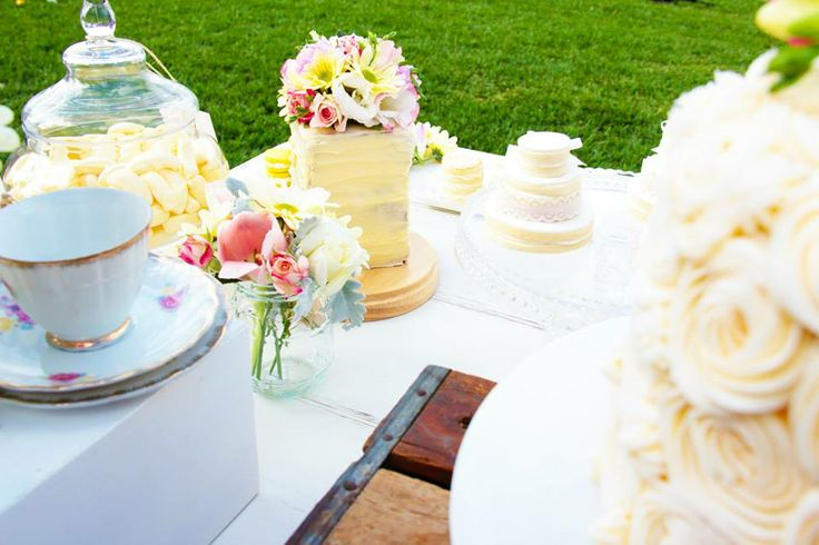 Cake, Tea Cups, cookies and more!! LOVE  -Styled By- Rahenna's Floral Design, Sweet Sister Cookies & Sweet Treats, Paper Blossom Creations, Sweets & Tea, photos by Brad Razz Photography