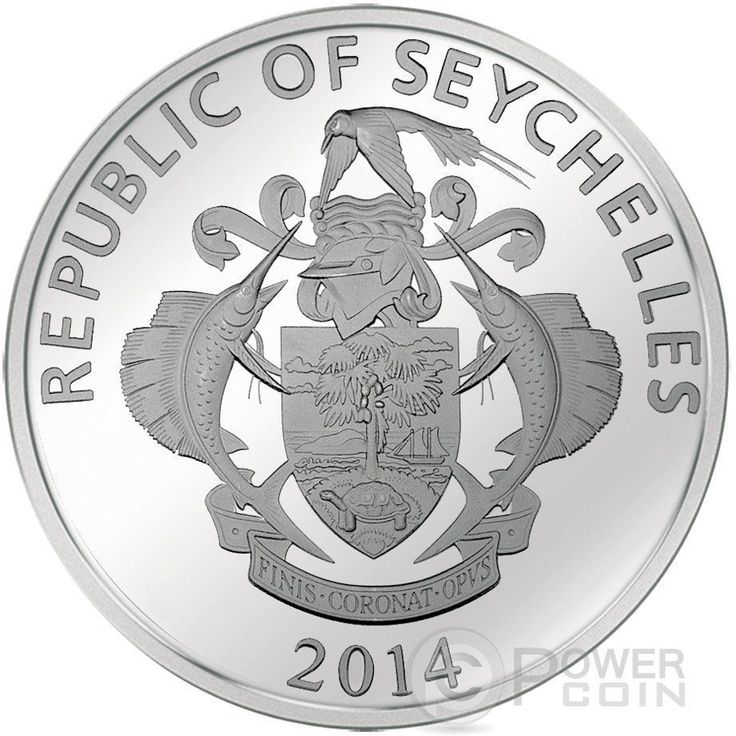 GOLD GRAM GIANT China Asia Edition Silver Coin 25 Rupees Seychelles 2015