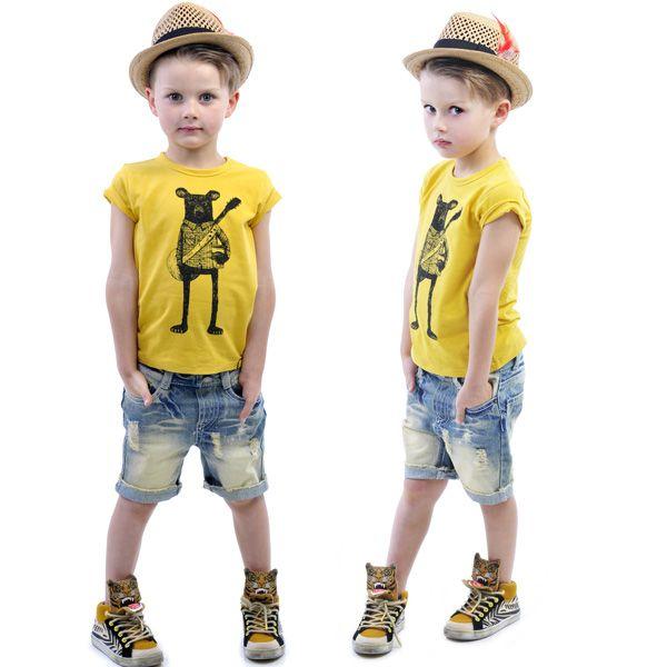 Indie Bear tee, denim Kerouac Shorts and Duke Straw Hat | Rock Your Kid summer 14 / 15 |