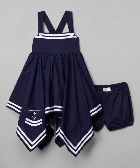 Sophie & Sam Mazarine Handkerchief Dress & Shorts - Infant, Toddler & Girls | zulily