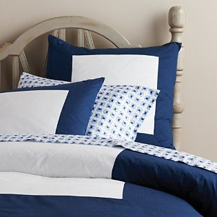 Navy Color Frame Duvet | Serena & Lily #bedroom