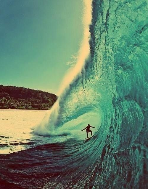 I want to learn how to surf so bad!  Maybe someday in Hawaii or Aus.