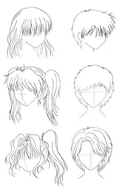 mejores 108 imágenes de peinados de anime en pinterest   bocetos