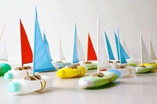 bateau avec bouteilles plastiques de shampooing - douche-bain Atendiendo Necesidades: Material TEACCH y otras ideas