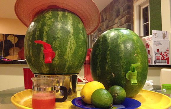 How to make a Watermelon Keg with Watermelon Margarita