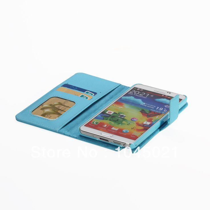 Оптовые! 2016 Новейший Крышка Телефон Случаях Для Samsung Galaxy Note 3 с голубой искусственная кожа для Galaxy note 3 с бесплатным доставка