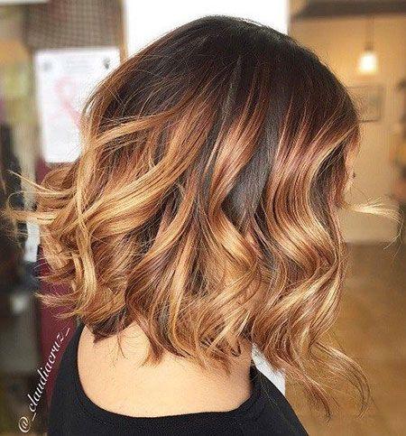 Caramel Ombre Short Hair Ombre Kurze Haare Ombre Haare Kurz Kurze Haare Ombre