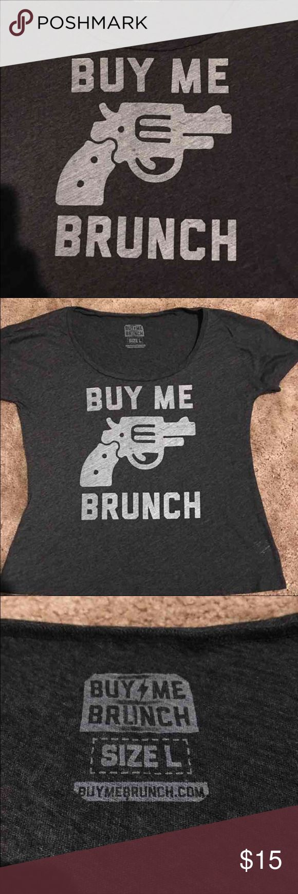 Buy Me Brunch off the shoulder shirt Final reduction! The Chiverys own Buy Me Brunch shirt. Scoop neck, off the shoulder fit. Meant to be worn loose. Size large, never worn! Tags: Chive, Chivery, KCCO, Buy Me Brunch, Resignation Media, Resignation Brewery, Yoga, Comfy, Off the shoulder, Brunch, black buy me brunch Tops Tees - Short Sleeve