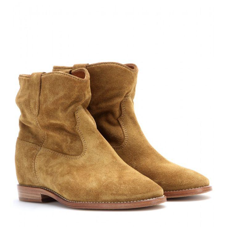 mytheresa.com - Bottines à talons dissimulés en daim Crisi - Talons moyens - Bottines - Chaussures - Isabel Marant - Luxe et Mode pour femme - Vêtements, chaussures et sacs de créateurs internationaux
