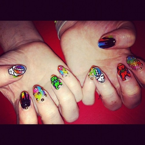106 best nails images on pinterest nail art nail design and grateful dead nails prinsesfo Gallery