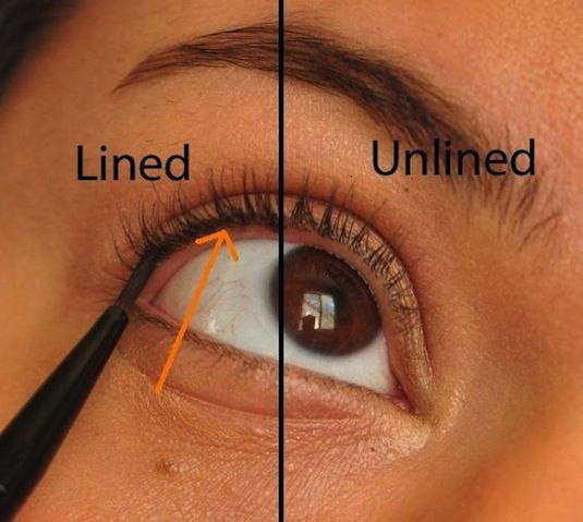 It's called tightlining, ladies. It gives your eyes definition without looking like you are wearing any makeup at all. --32 Makeup Tips That Nobody Told You About
