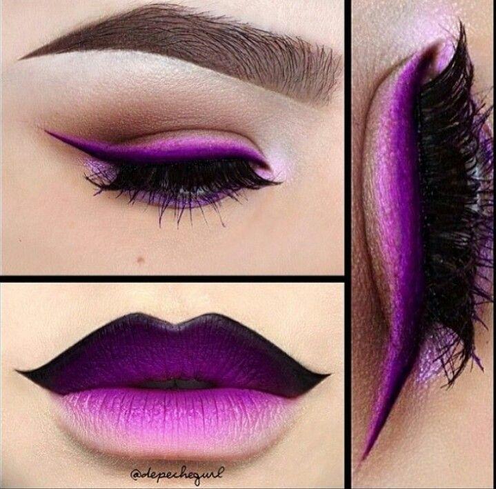 Purple ombre makeup de.pinterest.com/katelynreno/makeup/