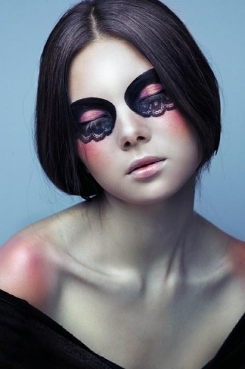 Dramatic Pink Eye Makeup: Dark Pink † Pastel Goth † Dramatic Makeup