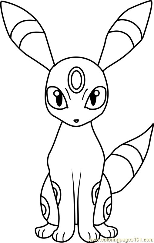umbreon pokemon coloring page - Coloring Page Pokemon