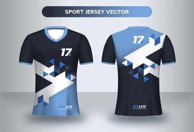 Download Football Jersey Design Template Corpora Premium Vector Freepik Vector Design Template Fashion Sport In 2020 Sport Shirt Design Jersey Design Sports Shirts