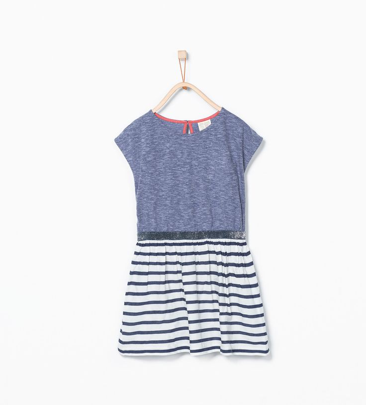 Image 1 of Printed combination dress from Zara